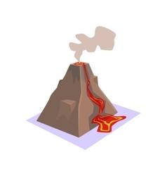 Erupting Volcano Jungle Village Landscape Element vector image