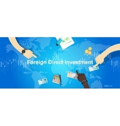 FDI Foreign Direct Investment concept vector