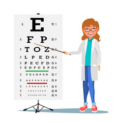 Female ophthalmology medical eye vector