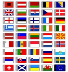 Flags Europe vector