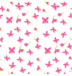 floral textile seamless pattern vector image