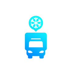 Fridge truck icon van with refrigerator vector
