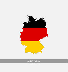 Germany map flag vector