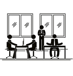 group of bussinespeople in the office vector image