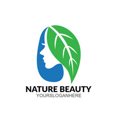 hair care beauty business logo vector image