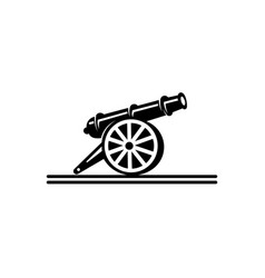 Inspiration cast-iron cannon icon vector