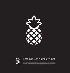 Isolated ananas icon pineapple element c vector