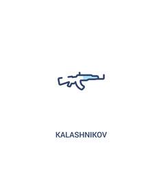 Kalashnikov concept 2 colored icon simple line vector