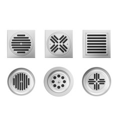 metal drainage grates for shower or sink vector image