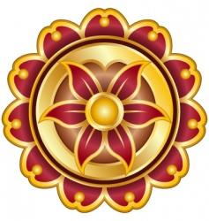 metallic emblem vector image