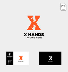 Minimal x letter initial hand logo template icon vector