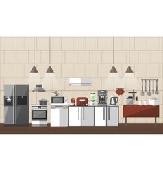 Modern kitchen interior set vector image
