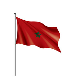 Morocco flag on a white vector