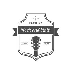 musical logotype rock and roll vector image