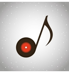 musical sound icon design vector image