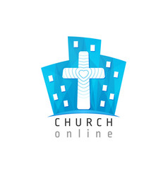 Online city church vector