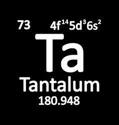 periodic table element tantalum icon vector image