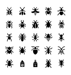 Pest control icons set vector