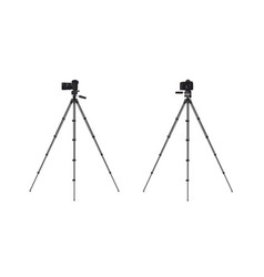 Photo camera on tripod vector