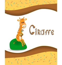 Pictures from the giraffe for bride-kid vector