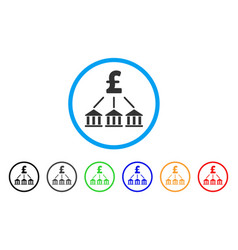 Pound bank association rounded icon vector