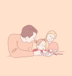 preschool education parenthood childhood concept vector image