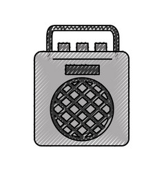 Radio music player icon vector