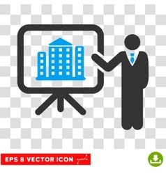 Realty Project Presentation Manager Eps vector