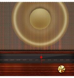 Retro radio elements vector