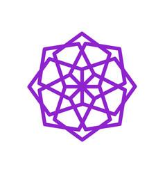 round purple ethnic mandala geometric symbol vector image