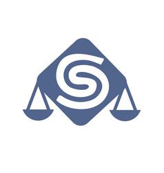 S csc initials letter rectangle shape logo vector