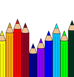 Seamless Pattern with Color Pencils Rainbow Colors vector image