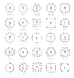 Set luxury signs vector