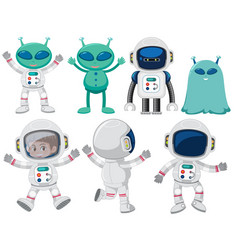 set of space character vector image