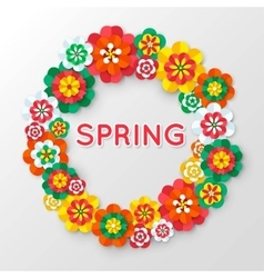 Spring Cutout Paper Flowers Spring Banner vector image