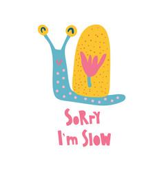 Super slow snail vector