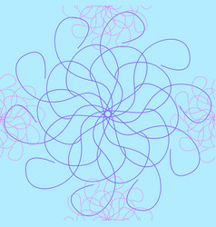 The seamless interweaving of lines vector