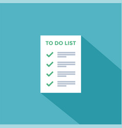 to do or tasks checklist tick marks vector image
