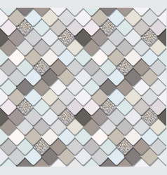 Trendy mosaic seamless background with silver vector