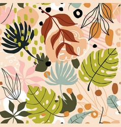 Tropical trendy abstract seamless pattern vector