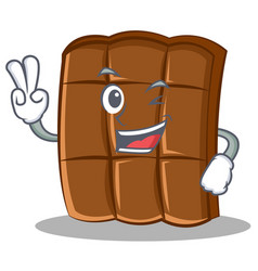 two finger chocolate character cartoon style vector image