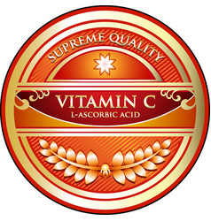 Vitamin c icon vector
