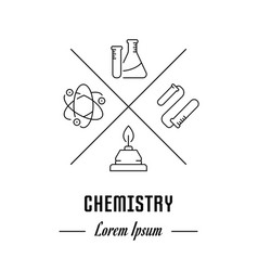 Website banner and landing page of chemistry vector