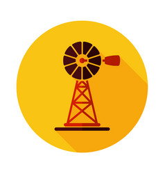 wind pump flat icon vector image