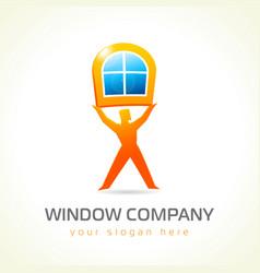 Window company logo vector