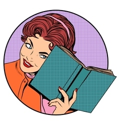 Woman with a book vector image