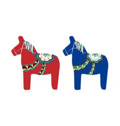 dalecarlian horse swedish wooden horse vector image vector image