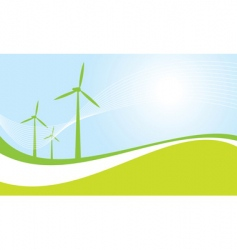 Eco power vector