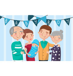 happy big family portrait best moments on vector image