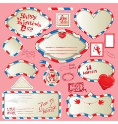 love mail frames 380 vector image